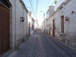 A street in Yanahuara