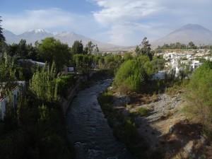River through Arequipa city
