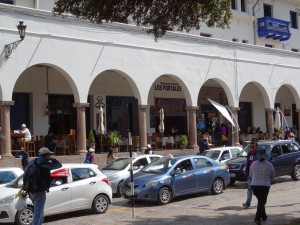 A tourist restaurant at the main square  in Cusco