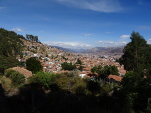 Overview in Cusco city