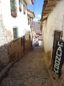 A street in San blas, Cusco