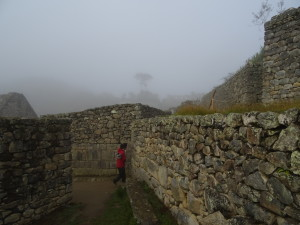 walking and checking every corner of Inca's ruins