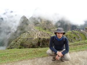 Mark with Machu Picchu