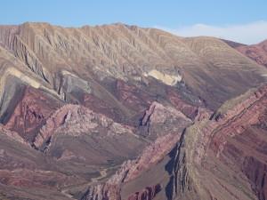 Colourful mountain in Humahuaca