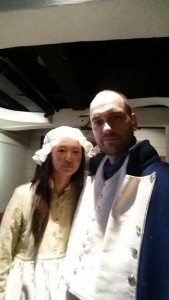 Captain Totzke and his loving wife, Captain Cook Museum in Whitby